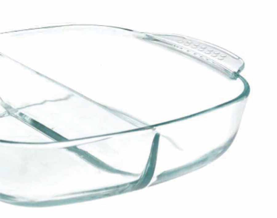 Fashionable reusable borosilicate pyrex glass casserole dish for home restaurant