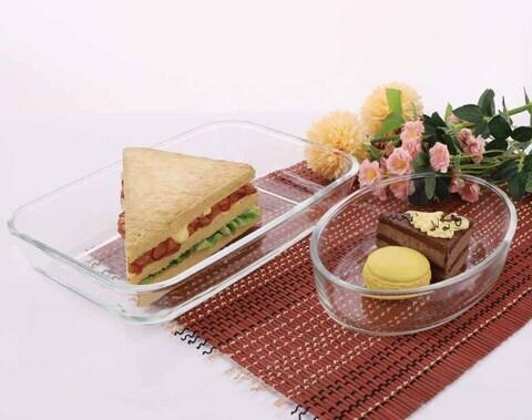 Plat à tarte en verre Pyrex de 12 pouces de qualité alimentaire allant au four