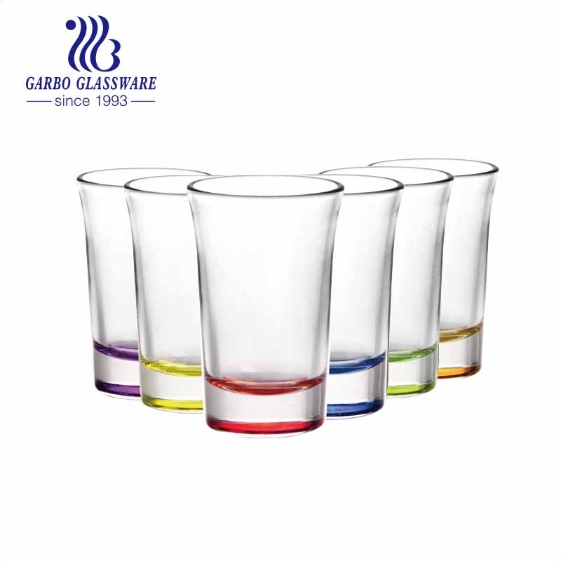 1.5oz stock custom spray colors shot glasses souvenir glass cups for spirits