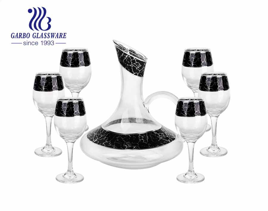 Garbo Decal European Retro Style Decanter Crystal Red Wine Decanter Set