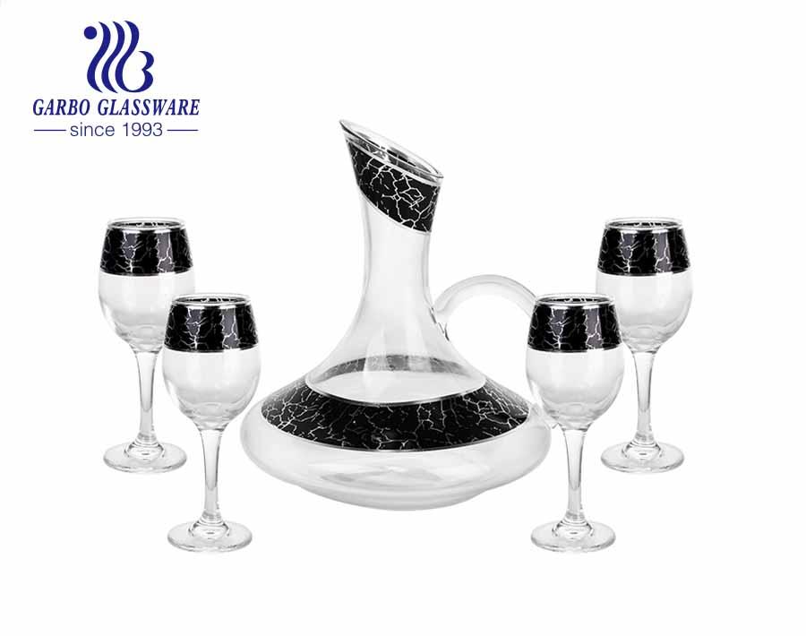 Garbo Decal European Retro Style Decanter Juego De Decantador De Vino Tinto De Cristal