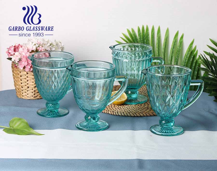1.3L high quality tiffany color glass jug for water drinking popular for home using