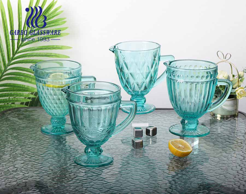 1.3L hochwertige Tiffany Farbe Glaskrug für Wassertrinken beliebt für den Heimgebrauch