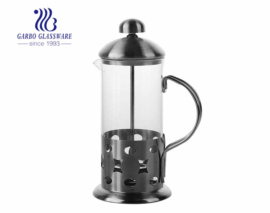 Coffee accessories 350 ml french press pitcher with stainless steel handle