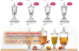 Which glass dispenser is my favorite one, design, and size?