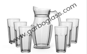 Garbo New Design Rock Series 1.8L Cold Water Pitcher with 10oz tumbler sets