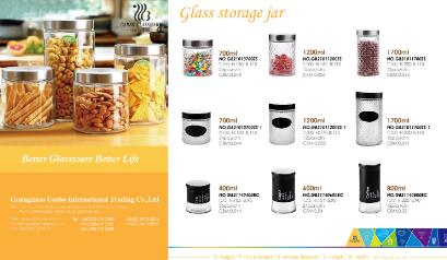 9 items hot sale glass storage jars for kitchenware using with high quality