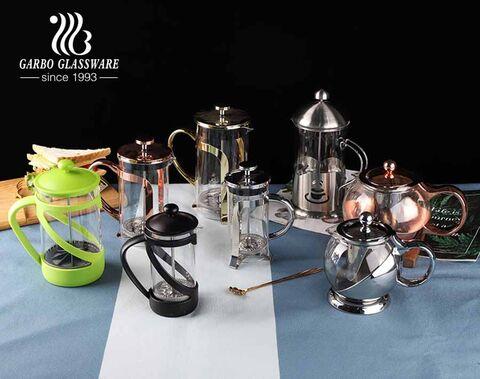 304 Langlebige Edelstahl-Kaffeepresse 4 Filter French Press Kaffeemaschine