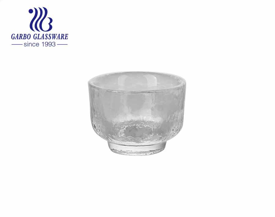 70ml handmade shot glasses hammer pattern glass cups for drink spirits vodka pub