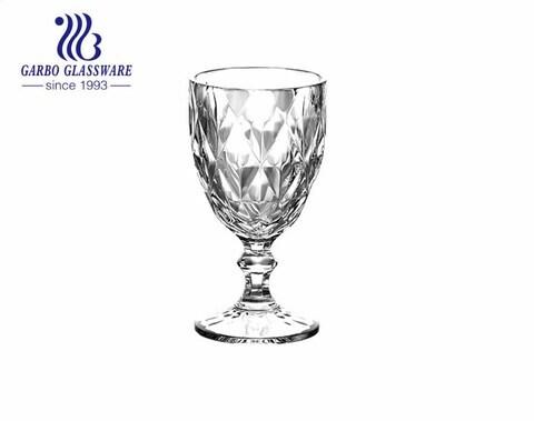 Copas de cristal coloridas grandes y altas de 300ml con revestimiento de iones para beber agua y vino