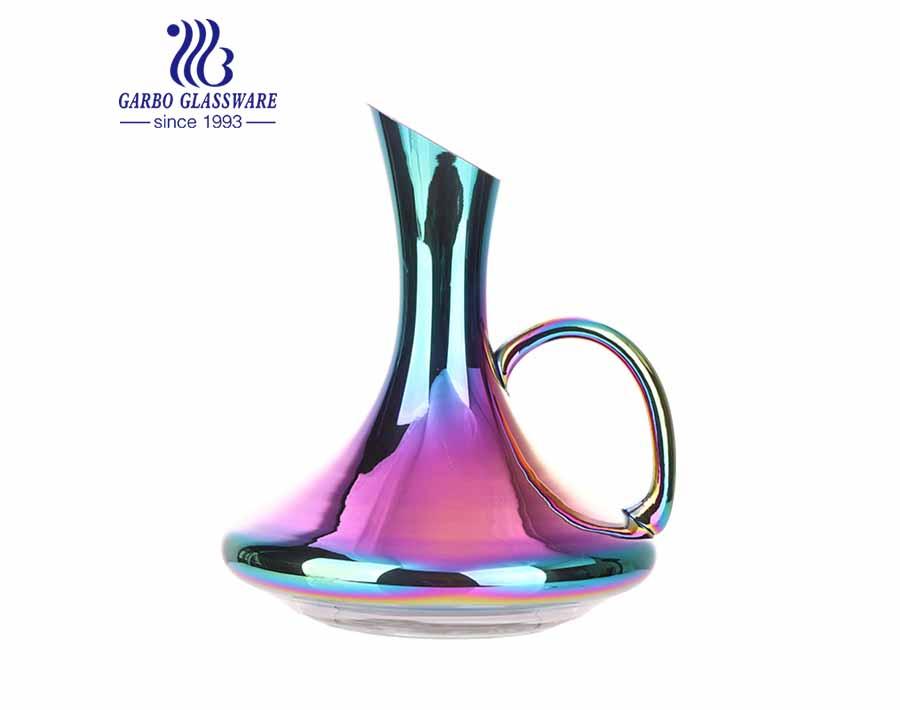 Jarra al por mayor hecha a mano jarra de chapado de iones jarra de vino personalizada multicolor