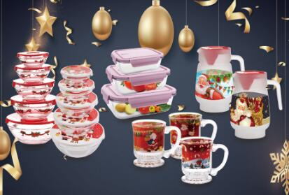 What's my favourite glassware with Christmas style in Garbo glassware?