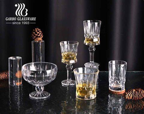 Garbo Novo Design Suporte de vidro transparente transparente sem chumbo Tigela de vidro para deserto copo de sorvete de 11 onças