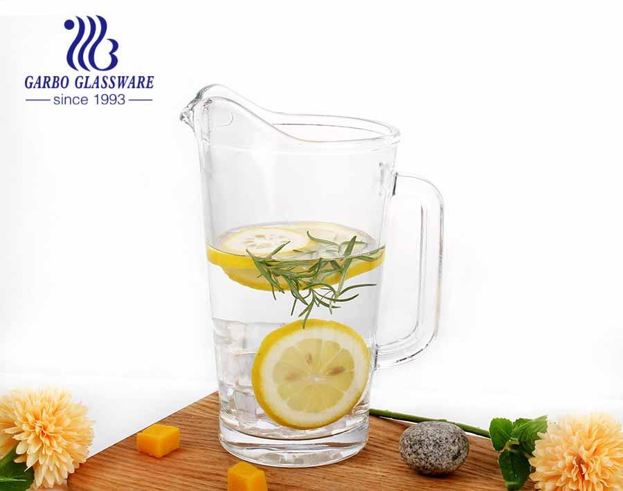 Jarra de água quente / fria jarra de chá gelado jarra de vidro e bebida jarra com alça