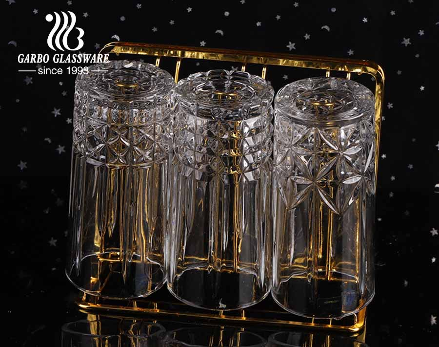12oz round shape engraved rock glass for barware whiskey beverage drinking cup