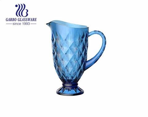 Einzigartiger Eistee Wasserglas Krug Wein Kaffee Milch und Saft Getränk Gravierter Glaskrug mit Griff