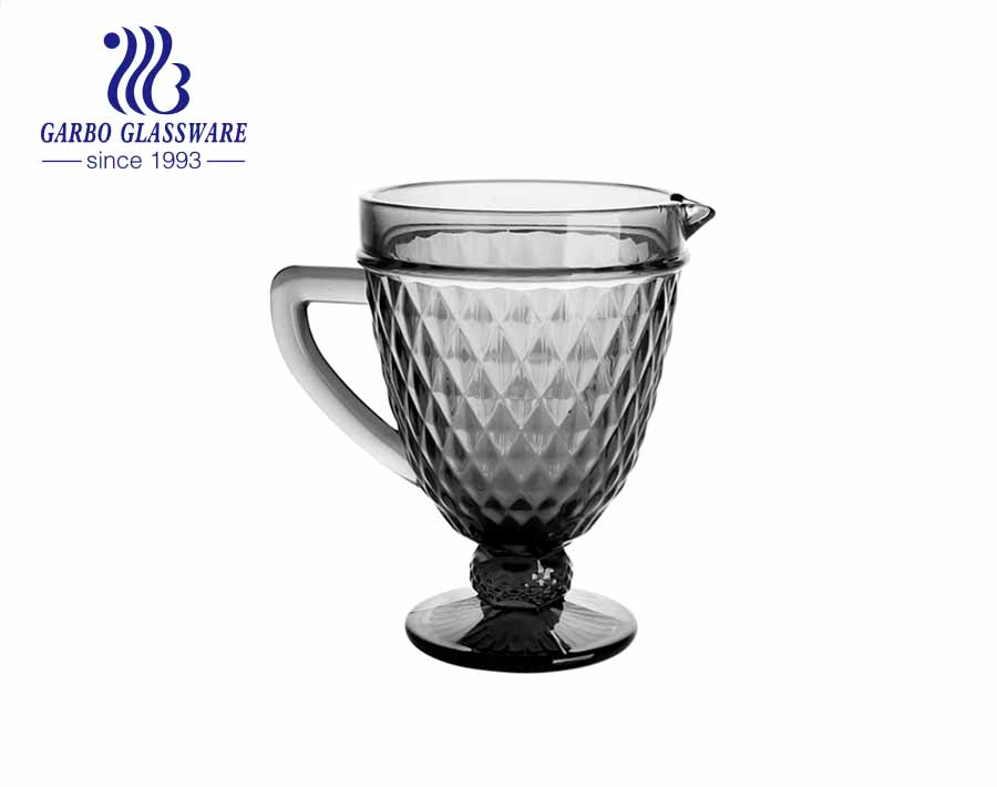 إبريق مشروبات ماء أنيق جميل منقوش على شكل زهرة إبريق زجاجي للشاي المثلج مع صنبور