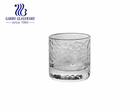 Vaso de medida transparente de 4 oz con vasos de vidrio hechos a mano de fondo pesado que aceptan colores personalizados