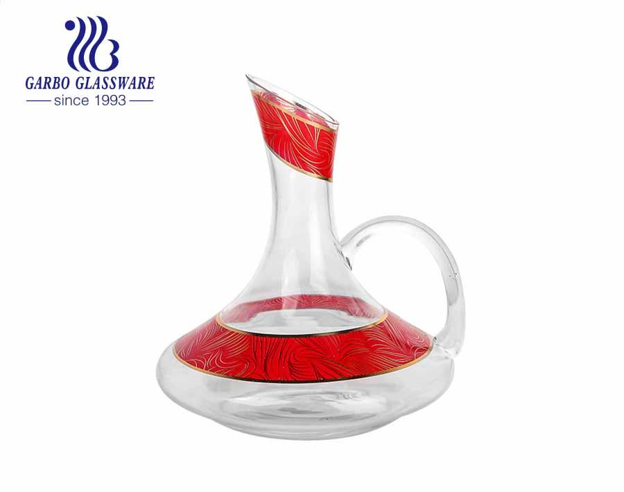 Calcomanía Cristal Premium Jarra Decantador De Copa De Vino Tinto De Regalo Soplado A Mano