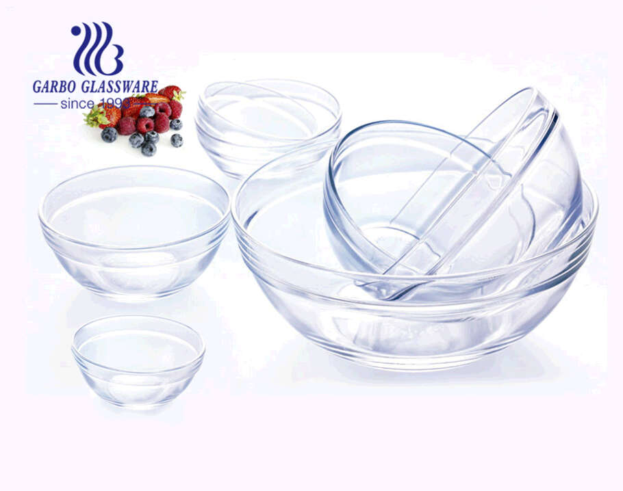 9-inch Simple classical design cheap glass salad bowl with good quality and low price
