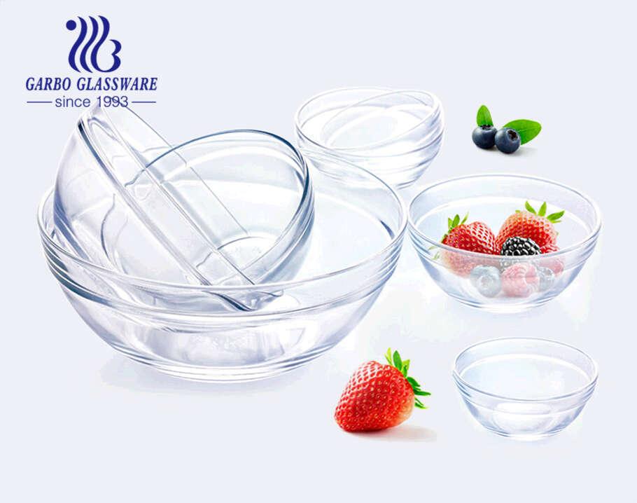 9 بوصة تصميم كلاسيكي بسيط وعاء سلطة زجاجي رخيص بجودة جيدة وسعر منخفض