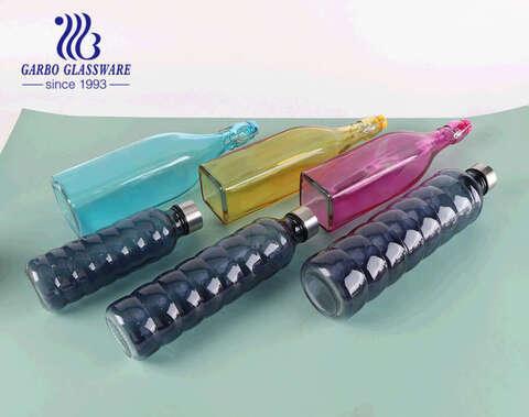 La bebida colorida del jugo de la botella de cristal de agua creactive 500ml outdoolead libera la botella deportiva de r