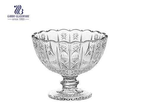 Sun Flower Series Middle East Venda quente de 8 oz Copo de sorvete de vidro Tigela de sobremesa de vidro