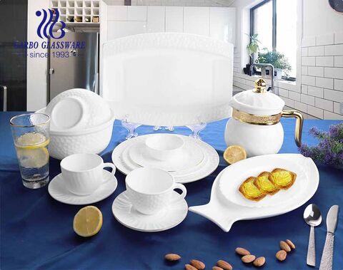 أطباق عشاء مسطحة من الزجاج العقيق الأبيض 10 بوصة مع حافة ذهبية لحفل الزفاف