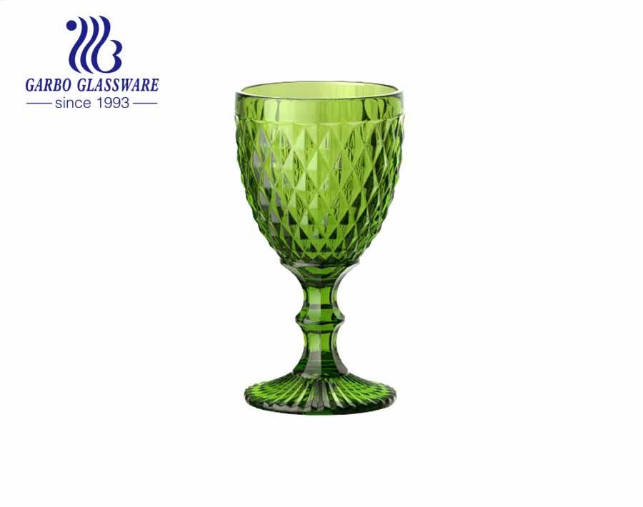 أكواب زجاجية بتصميم ماسي كبير 300 مللي لشرب النبيذ لتزيين المنزل