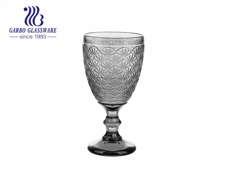 300ml new design wine and juice drinking glass goblet for restaurant using
