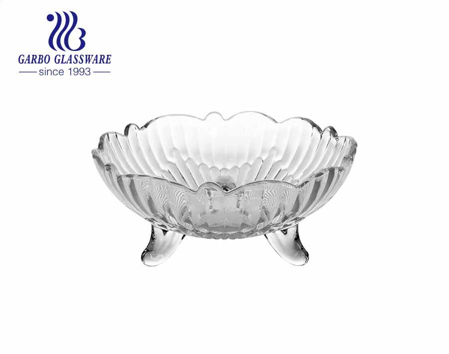 تصميم دوار الشمس على طراز الشرق الأوسط بحجم 5 بوصات ، وعاء آيس كريم زجاجي صغير مع أقدام