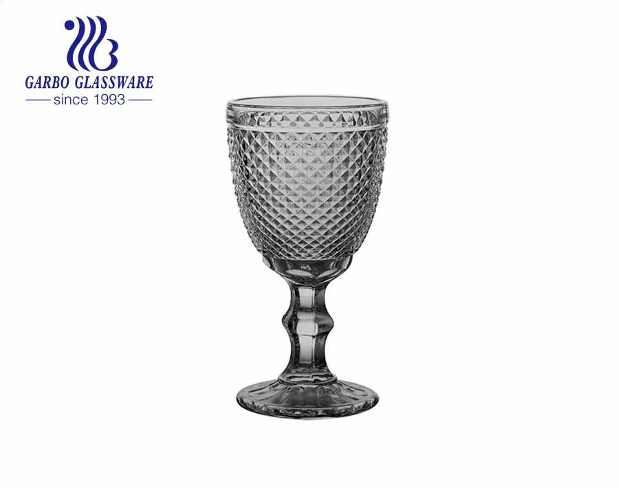 Bohemia Engraved Goblet Water Glass Cup Spray Color Food Grade Stemware