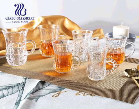 Bán buôn 3oz Tách trà thủy tinh Thổ Nhĩ Kỳ có tay cầm dùng trong nhà