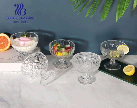 13 oz big mouth design Tigelas de vidro para sorvete, copos de sundae, tigelas de salada de frutas placa de vidro sem chumbo