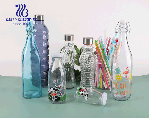 500ml cow design  milk juice bottle  creactive water glass bottle juice beverage outdoor lead free sporty bottle