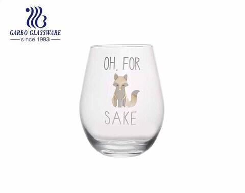 Vaso de vidrio cortado con láser de gran tamaño en stock de 21 oz 600 ml con impresión personalizada de calcomanías para promoción