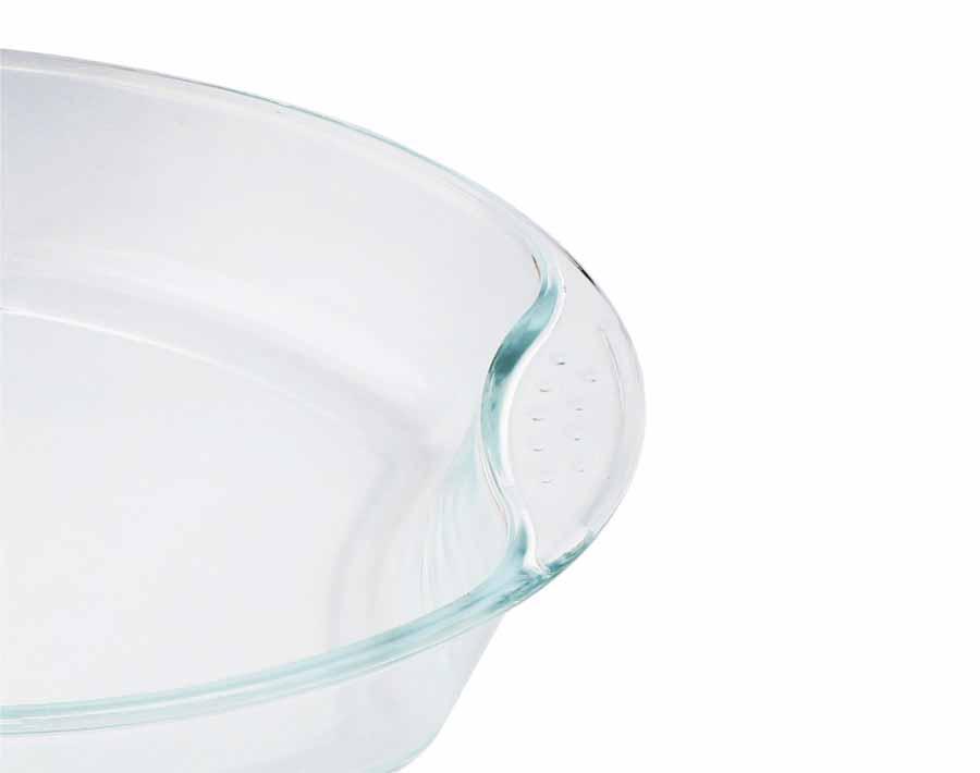 صحن زجاجي مستطيل الشكل 1800 مل وطبق خبز زجاجي من البورسليكات البيضاوي سعة 700 مل