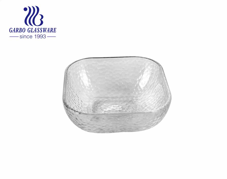 Pearl white vintage square fruit salad fruit dessert bowl for home hotel using with wholesale price