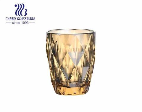 Vasos de vidrio de alta calidad para baño de iones de 9 oz para beber agua y té, cristalería de brasil