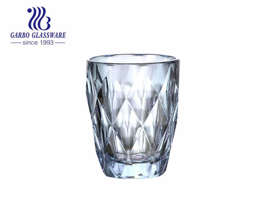 9oz جودة عالية أيون تصفيح الزجاج البهلوانات للمياه والشاي الشرب حار بيع الأواني الزجاجية البرازيل