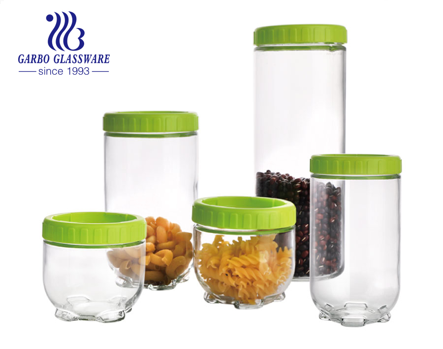 Wholesale Anchor Hocking Transparent Clear Glass Jars with Lid for Heritage Storage 900ml 1.3L 1.7L 2.5L