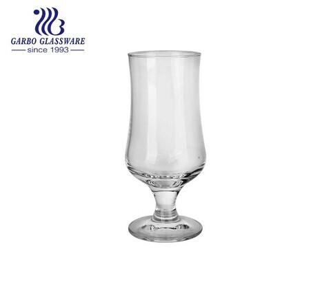 Vaso de vidrio soplado de brandy soplado a mano vaso de vidrio de cóctel de jugo de huracán