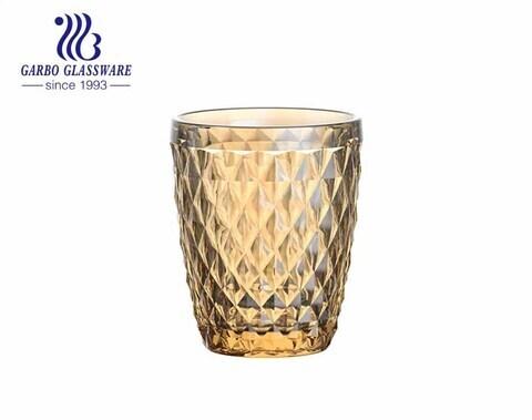 260ml de alta calidad vasos de agua de galjanoplastia vasos de jugo de restaurante stock para beber