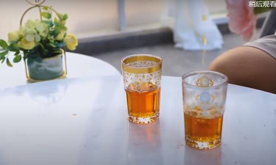 غاربو 6 أوقية بهلوان زجاج الشاي ، كأس شاي مزخرف للمغرب ، فرنسا ، إسبانيا ، أسلوب الشرق الأوسط