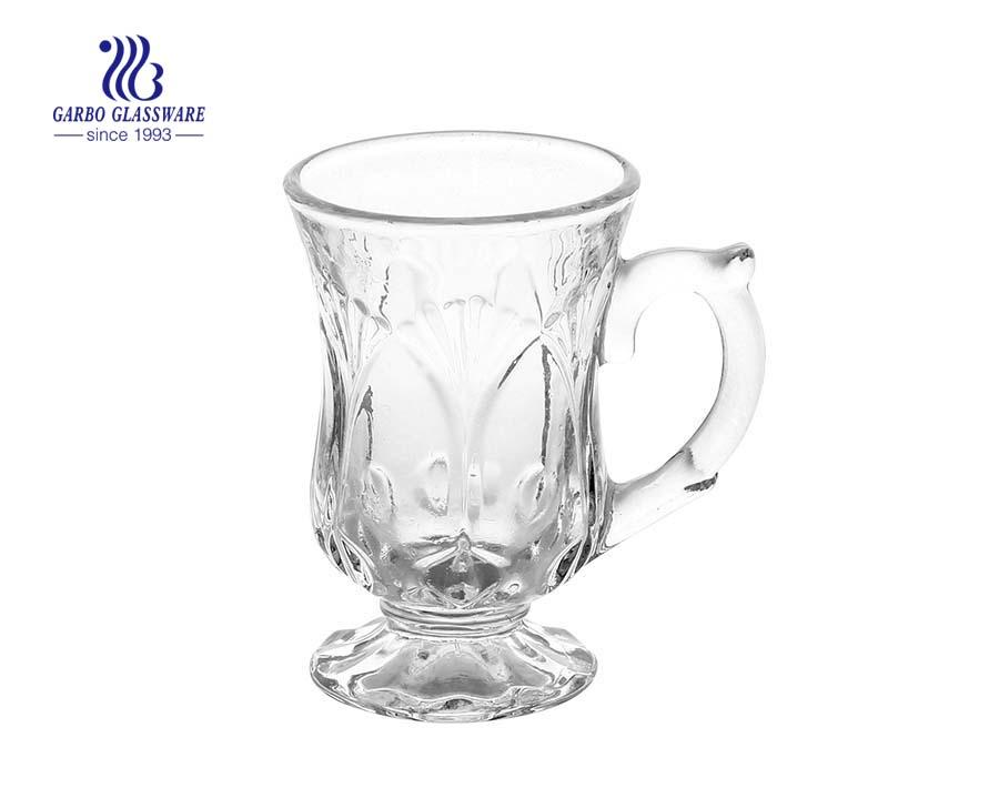 170ml thiết kế khắc cốc cốc thủy tinh với cốc thủy tinh đứng cho cà phê trà