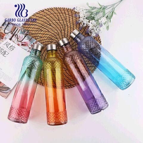Đầy màu sắc 700ml nước sáng tạo chai thủy tinh nước trái cây nước trái cây Outdoo chì miễn phí thể thao chai bộ sưu tập trang trí nhà