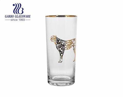 Cristalería de gama alta colección de artículos de bar de lujo vaso de vidrio highball soplado hecho a mano con varios tamaños