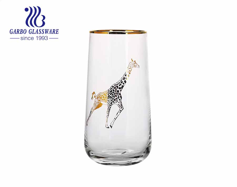 مجموعة أدوات المائدة الفاخرة من الأواني الزجاجية الراقية المصنوعة يدويًا من الزجاج عالي الكرة بأحجام متعددة