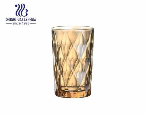 El vidrio de alta calidad de la galjanoplastia de iones 350ml coge el uso del hotel de consumición del jugo del agua