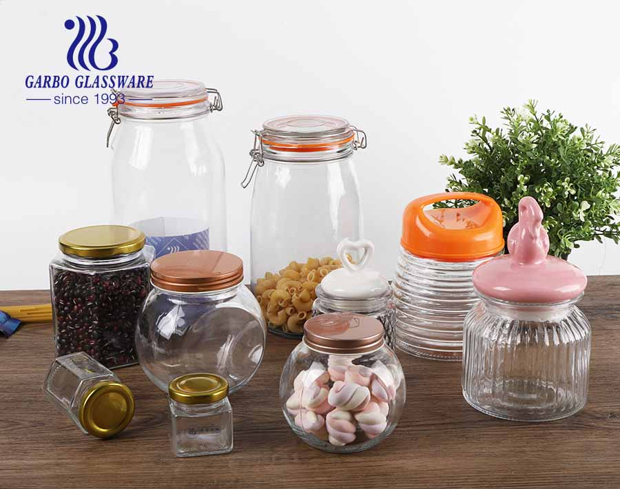 Wholesale Clear Canister With Lid Airtight Containers Candy jars